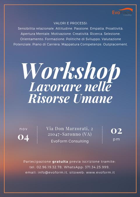 Workshop: Lavorare nelle Risorse Umane @ EvoForm Consulting