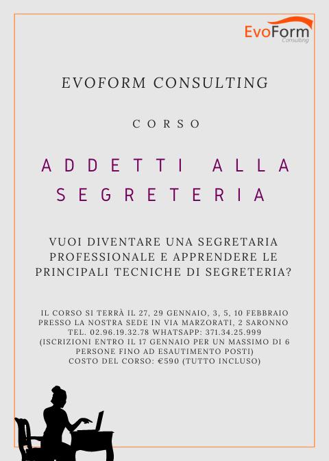 Addetti alla Segreteria @ EvoForm Consulting