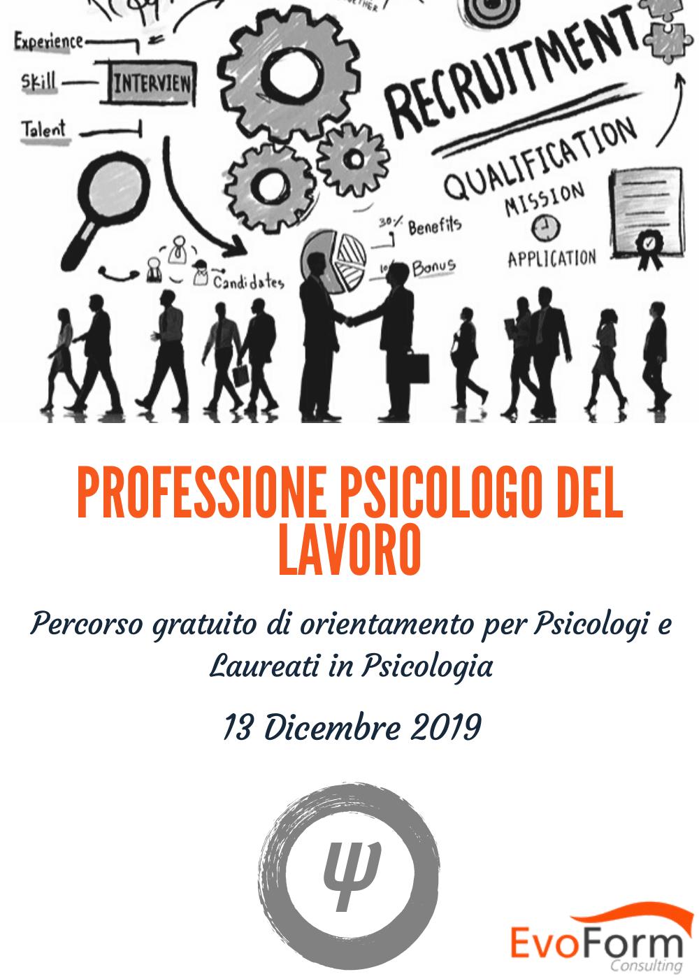 Professione Psicologo del Lavoro - percorso di orientamento gratuito @ EvoForm Consulting