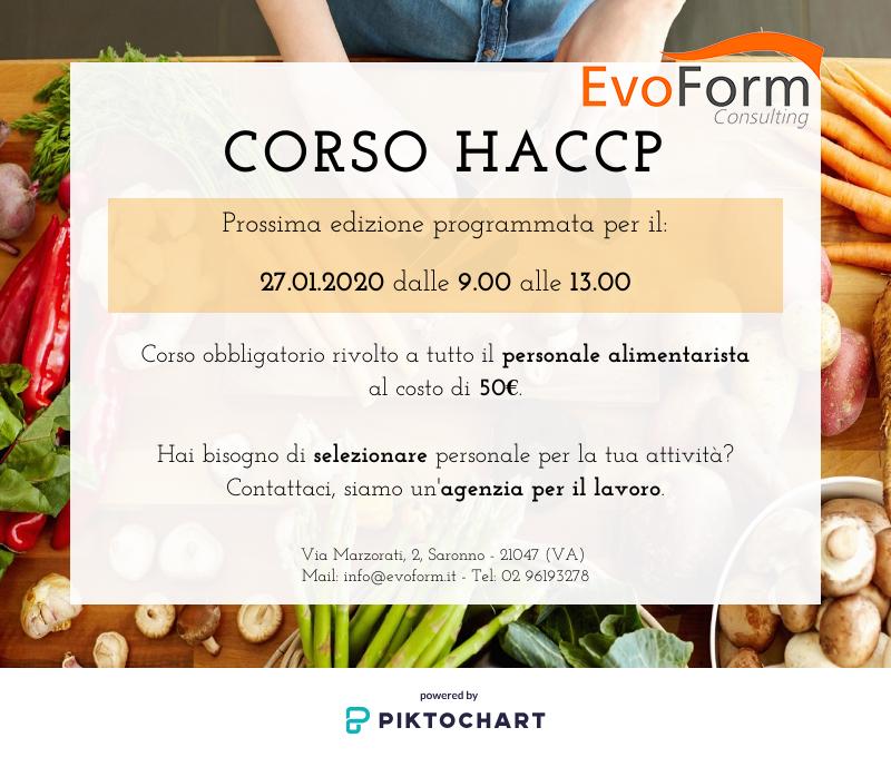 HACCP - igiene e cura degli alimenti @ EvoForm Consulting