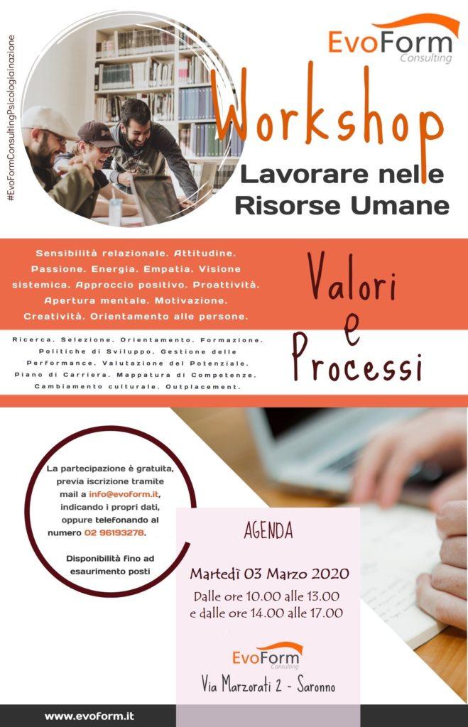 Lavorare nelle Risorse Umane: Workshop GRAUITO @ EvoForm Consulting