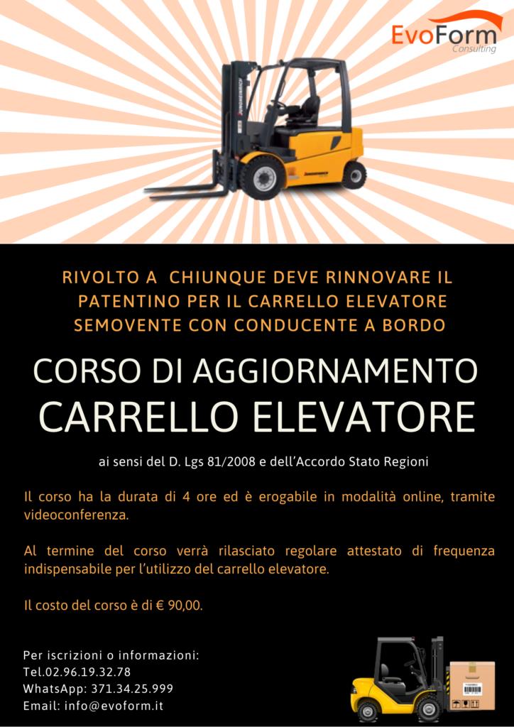 Aggiornamento Carrello Elevatore online