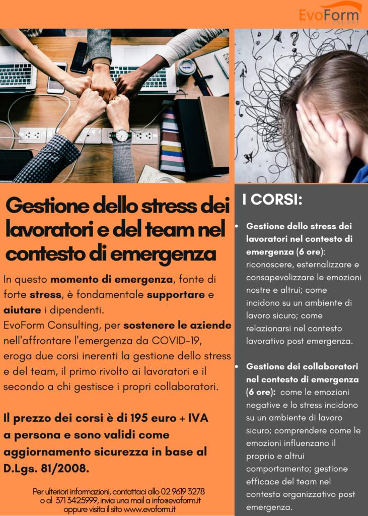 Gestione dello stress dei lavoratori nel contesto di emergenza