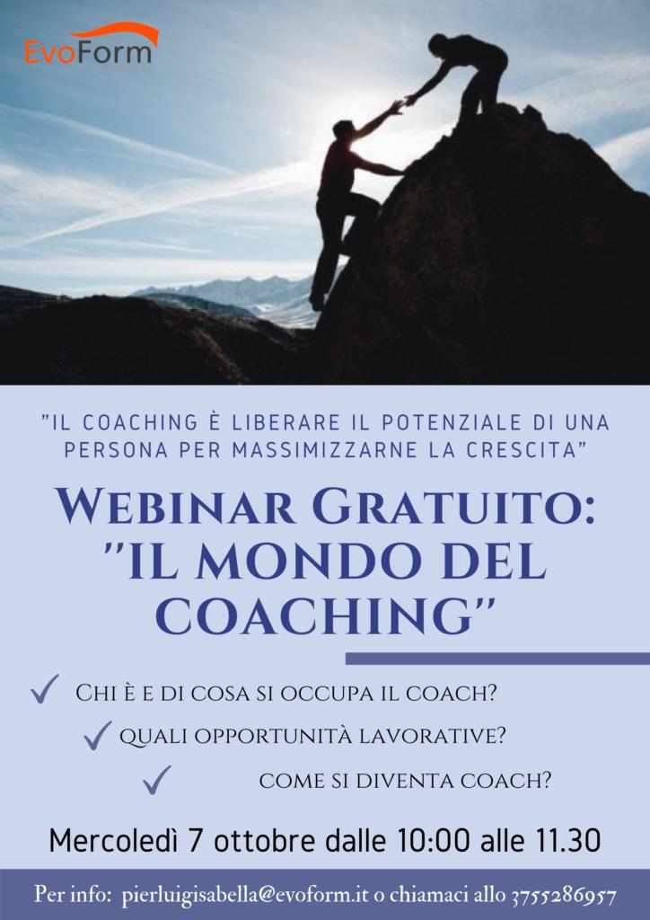 Webinar gratuito: Il mondo del coaching