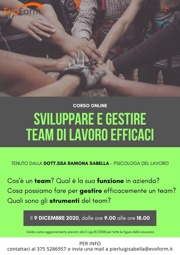 """Corso Online """"Sviluppare e gestire team di lavoro efficaci"""""""