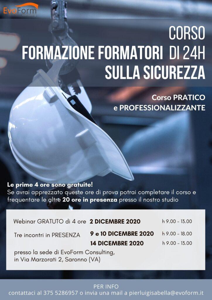 Corso Formazione Formatori sulla Sicurezza (24h)