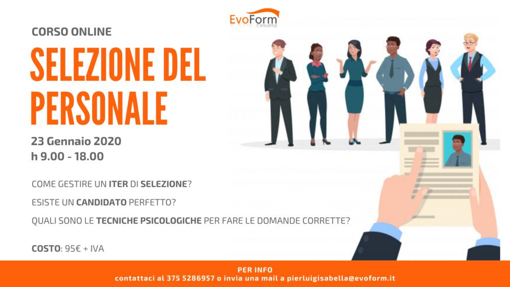 """Corso Online """"Selezione del Personale"""" @ Online"""